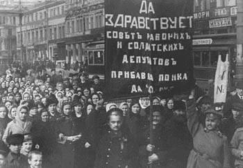 Manifestação na cidade de Petrogrado