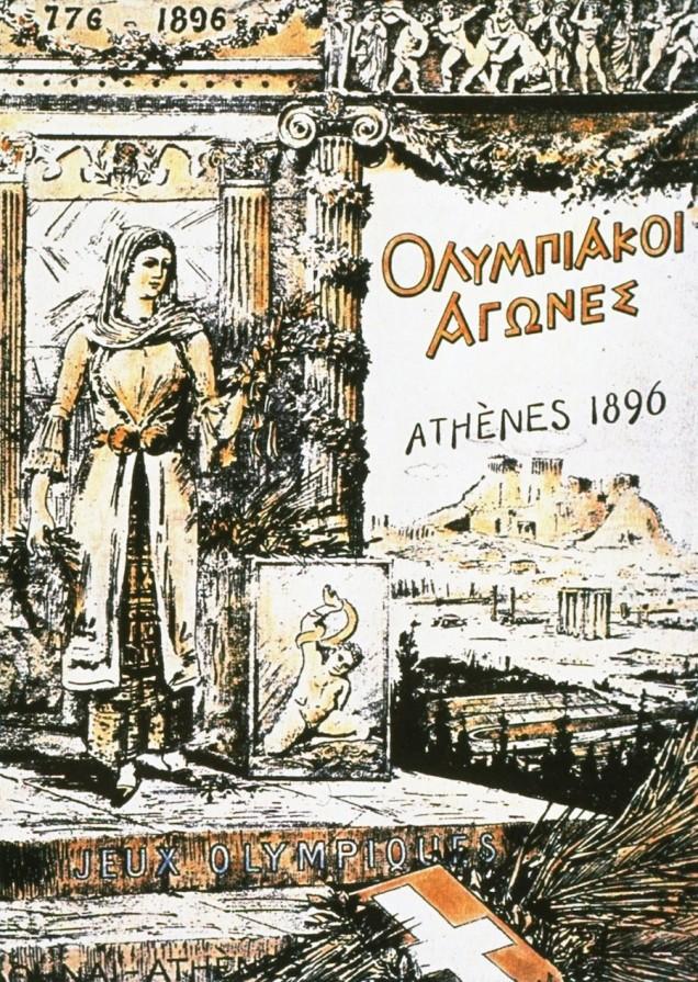 1896 - Atenas (Grécia) sediou a primeira edição dos Jogos Olímpicos da Era Moderna