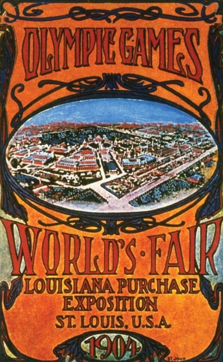 1904 - Em St. Louis (EUA), os jogos também foram paralelos à Exposição Mundial e também ficaram numa condição secundária. Além disso, a adesão internacional às Olimpíadas foi mínima: 580 dos 620 atletas participantes eram norte-americanos.