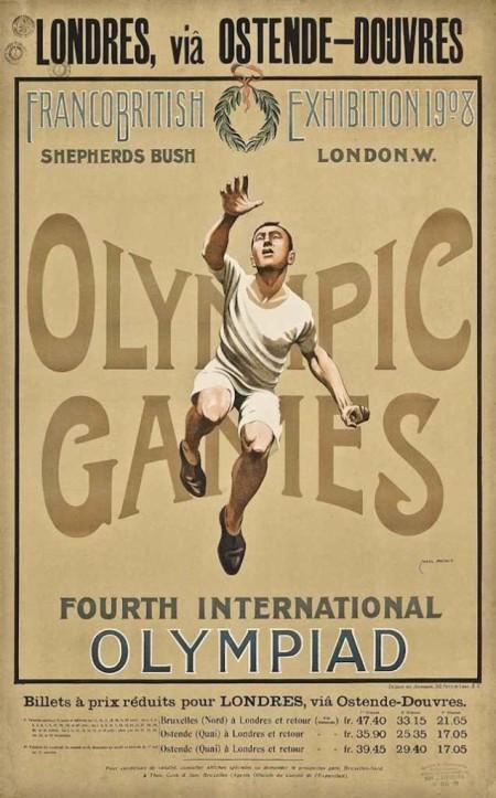 Mais um cartaz dos jogos de 1908 em Londres
