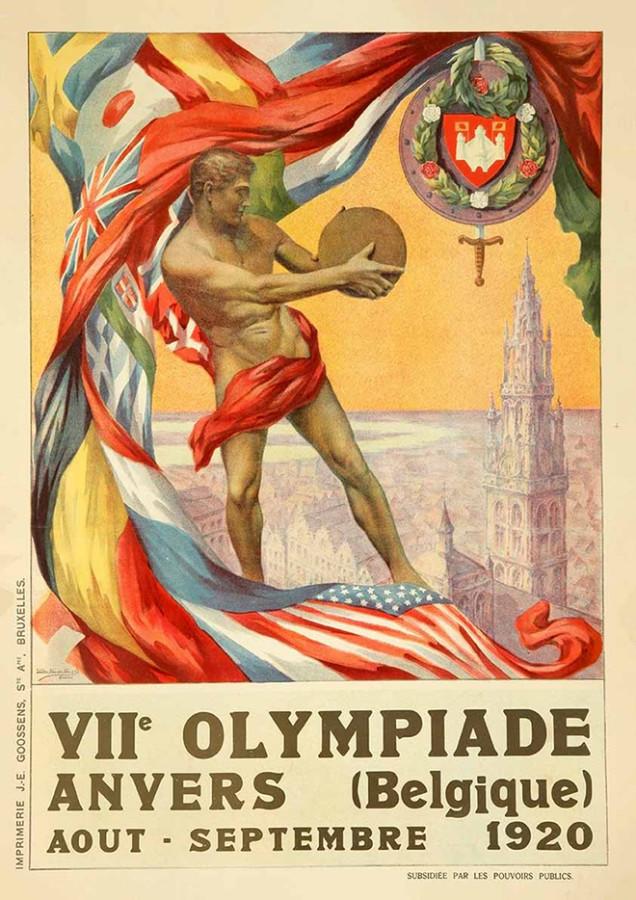 1920 - Em Antuérpia (Bélgica) os efeitos pós-guerra estavam presentes, pois Alemanha, Áustria, Bulgária, Hungria e Turquia foram banidas.