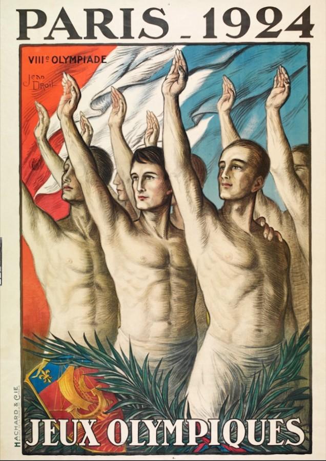 1924 - outro cartaz dos jogos de Paris.