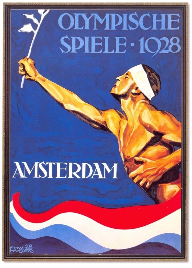 1928 - Outro cartaz oficial dos jogos de Amsterdã.