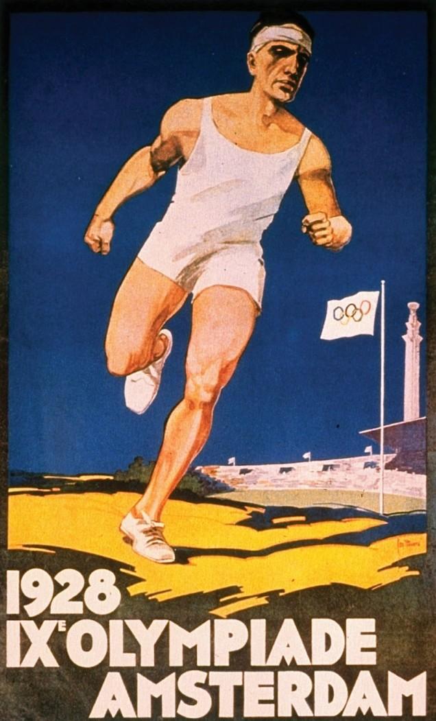 1928 - Amsterdã sediou, agora oficialmente, os jogos.
