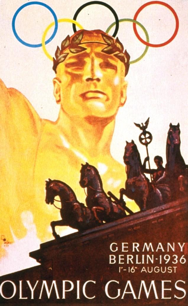1936 - Berlin (Alemanha) realizou a famosa edição dos jogos durante o governo de Adolf Hitler.