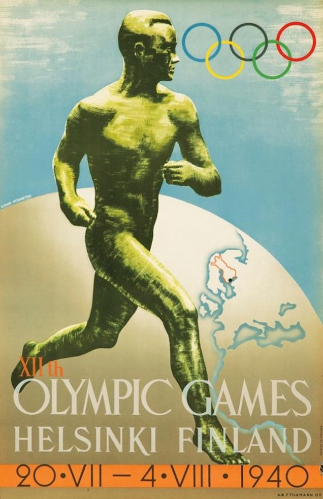1940 - A tentativa frustrada de assegurar a realização dos jogos teria como sede Helsinque (Finlândia), mas a Segunda Guerra inviabilizou o projeto.