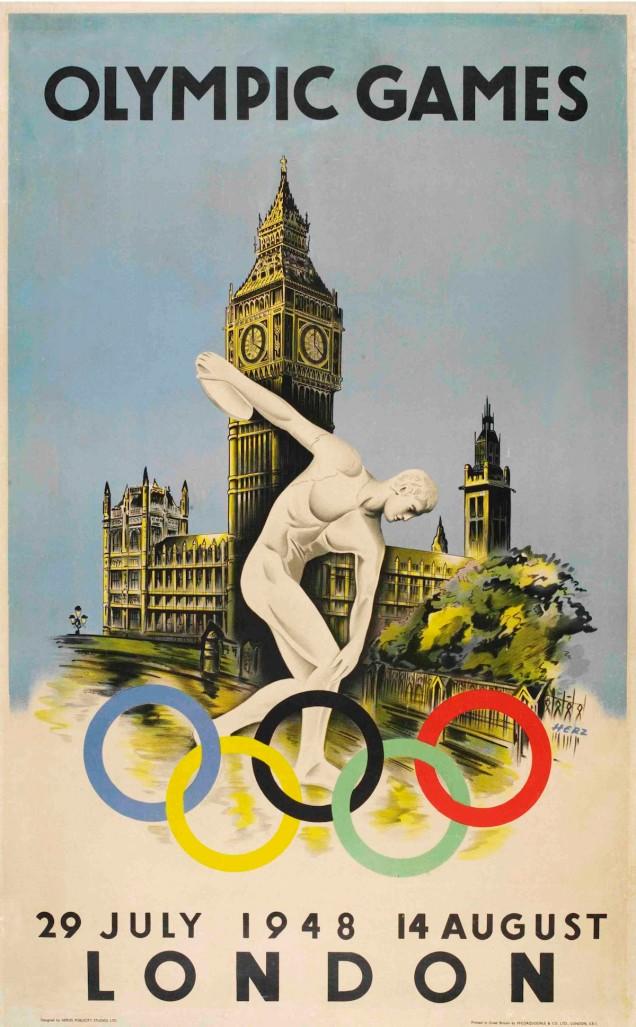 1948 - Mais uma vez a capital inglesa sediou os jogos.