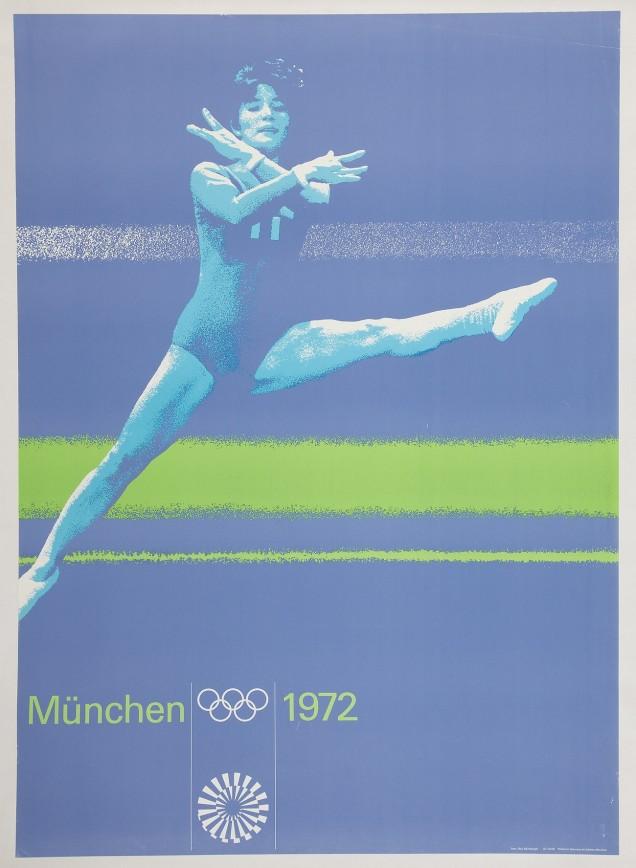 1972 - Vários cartazes concebidos por vários artistas foram elaborados pera os jogos de Munique (Alemanha).