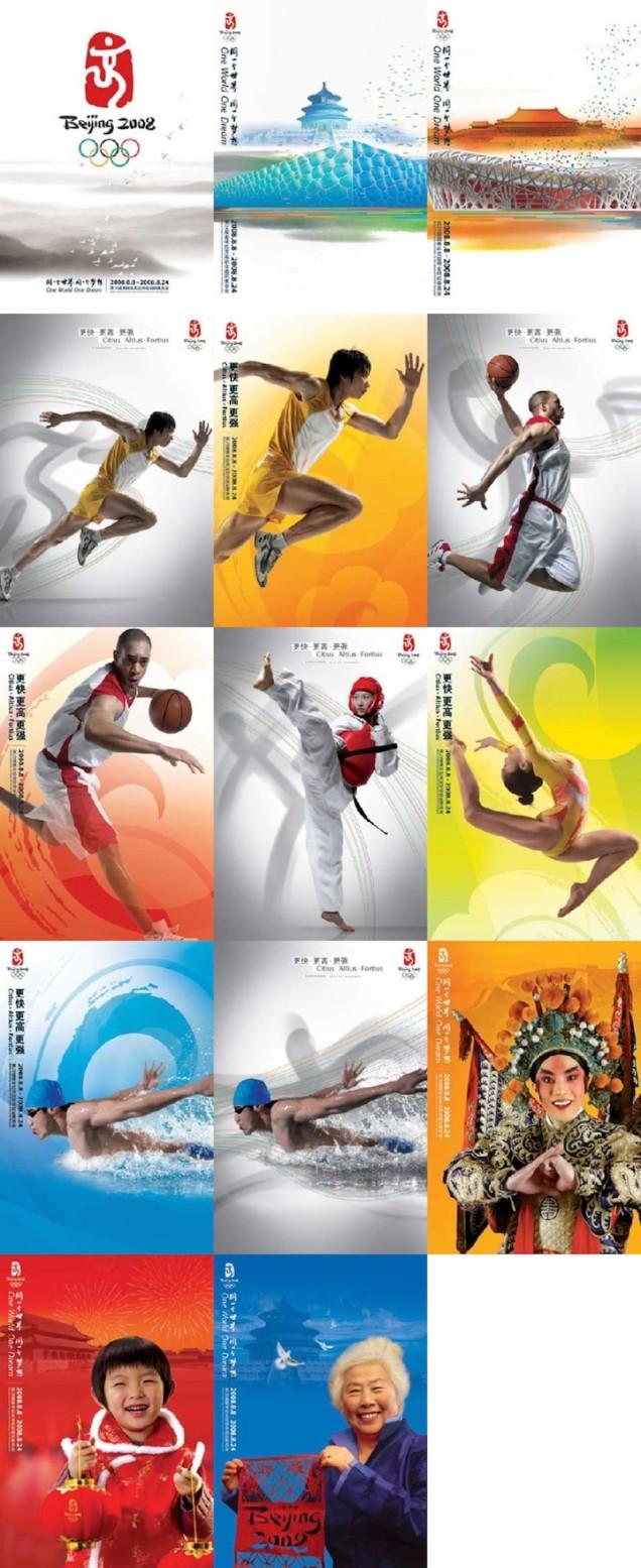 2008 - Cartazes temáticos dos Jogos de Pequim.
