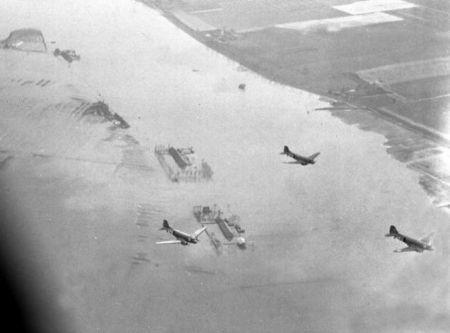 Inundação provocada por alemães na Holanda, 1944