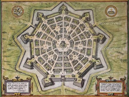 Palmanova old map