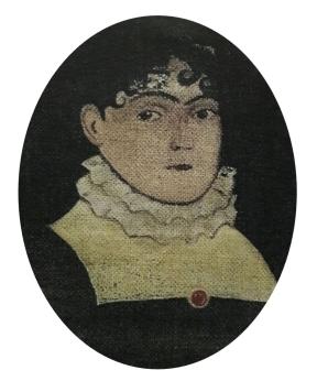 Retrato original de Maria Perpétua Calafate de Souza 1813